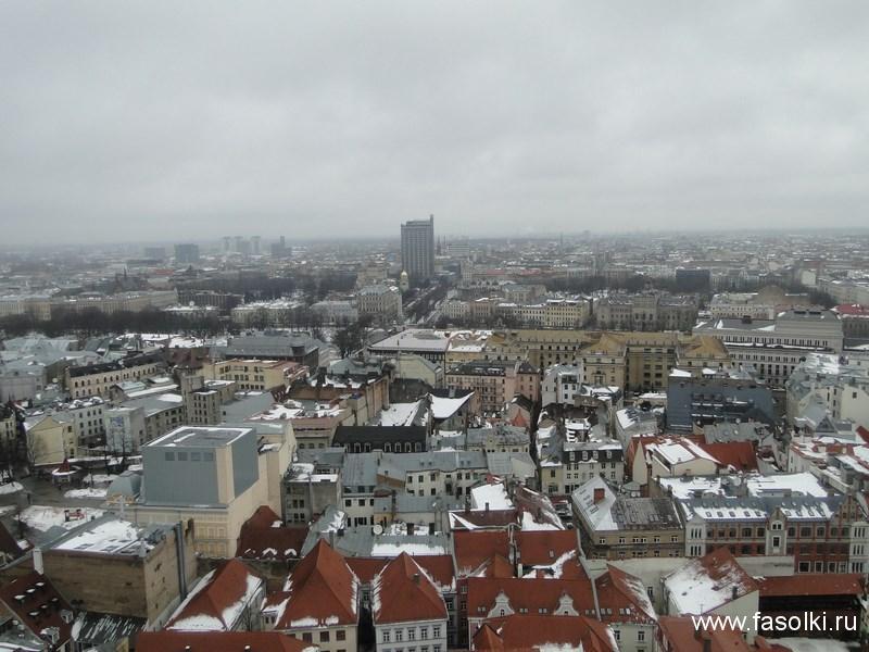 Вид с высоты церкви святого Петра в Риге