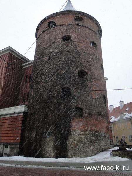 Пороховая башня в разгар ледяного дождя