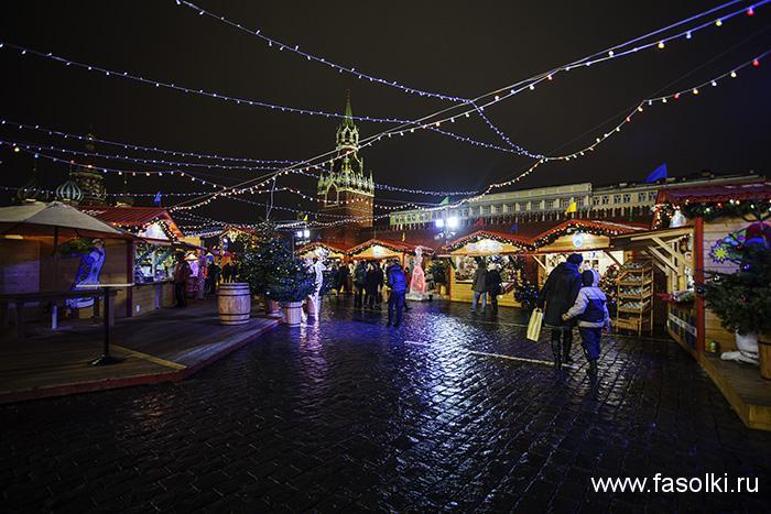 Рождественская ярмарка ГУМ на Красной площади