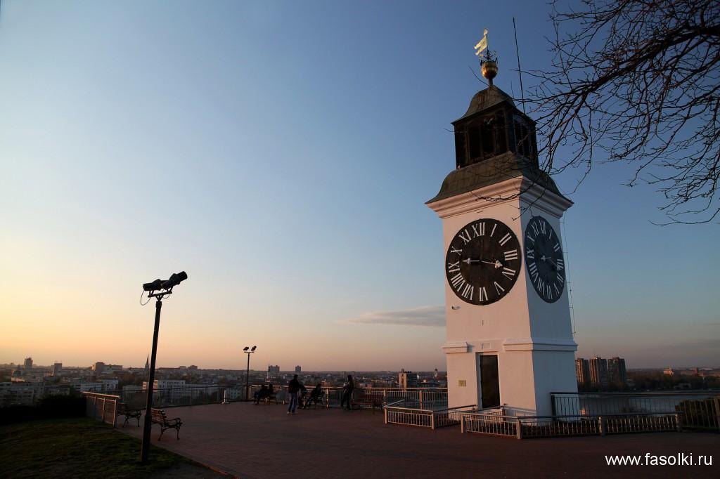 Часовая башня в Петроварадинской крепости