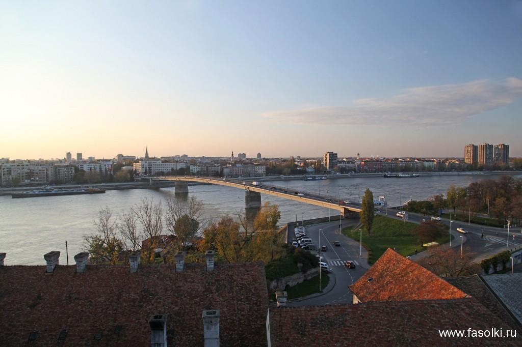 Вид с Петроварадина на Нови-Сад