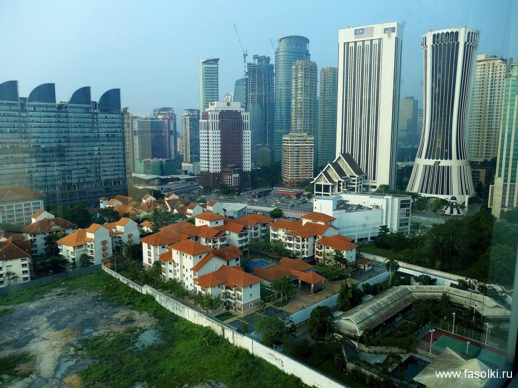 Вид из номера отеля Somerset Ampang Kuala Lumpur