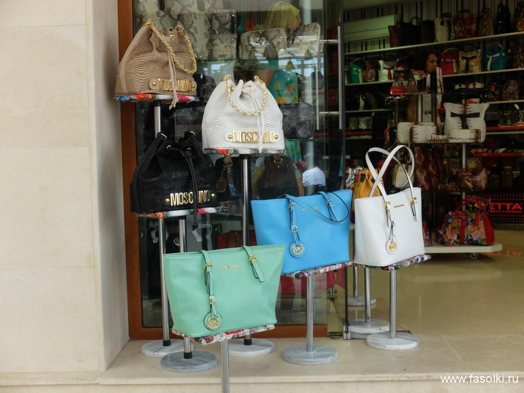 Поддельные сумки известных брендов, произведенные в Турции и Китае