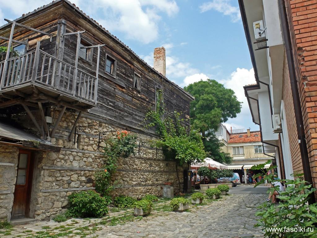 Традиционные болгарские дома в Несебре